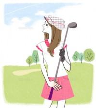 ゴルフ女性2